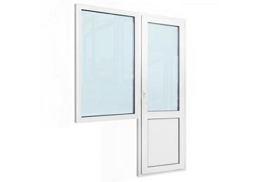 Балконный блок с одним окном и балконной дверью