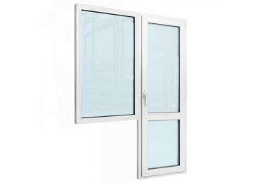 Балконный блок с одним окном и дверью