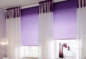 рулонные шторы фиолетового цвета