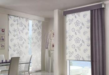 рулонные жалюзи на металлопластиковом окне