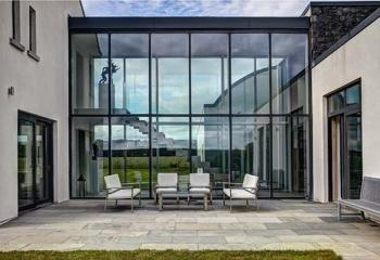 остекление алюминиевым профилем частного дома